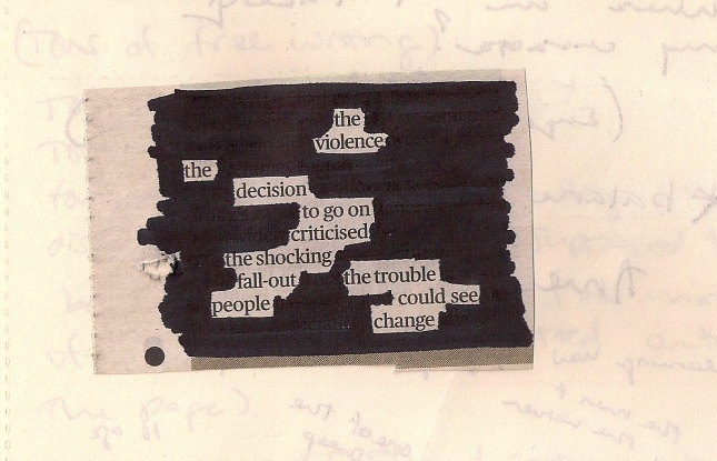 Black-out Poetry 2